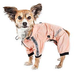 Pet Life® Torrential Shield X-Large Full Body Dog Windbreaker Raincoat in Pink