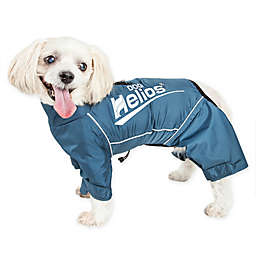 Small Dog Helios® Hurrcanine Waterproof and Reflective Full Body Dog Jacket in Blue
