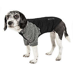 Pet Life® Active Hybreed Large 2-Tone Performance Dog T-Shirt in Black