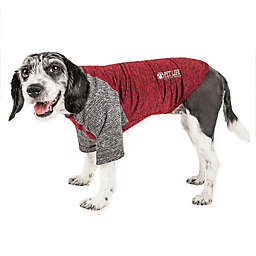 Pet Life® Active Hybreed Large 2-Tone Performance Dog T-Shirt in Maroon