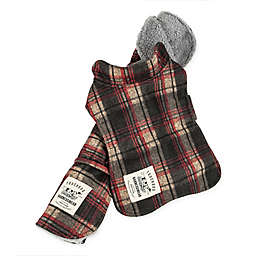 Pet Life® 2-In-1 Tartan X-Small Dog Jacket with Matching Reversible Mat in Red
