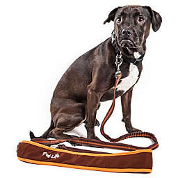 Pet Life® Large Free-Fetcher Hands Free Dog Leash in Brown