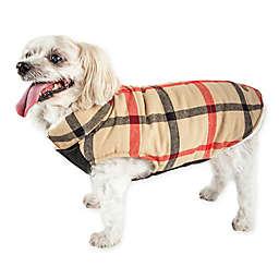 Pet Life® X-Small Allegiance Plaid Insulated Dog Coat in Khaki