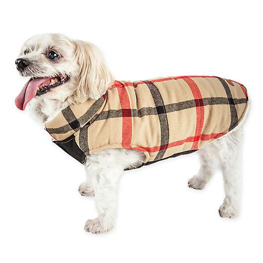 Alternate image 1 for Pet Life® Allegiance Plaid Insulated Dog Coat