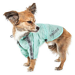 Dog Helios® Torrential Shield Adjustable Medium Dog Windbreaker Raincoat in Green