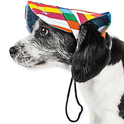 Pet Life® Colorfur Floral Adjustable Large Dog Cap