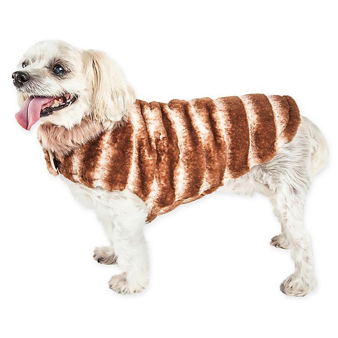 Alternate image 1 for Pet Life® Large Luxe Tira-Poochoo Dog Coat