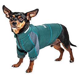 Pet Life® Medium Helios Eboneflow 4-Way Stretch Performance Yoga Dog T-Shirt in Green