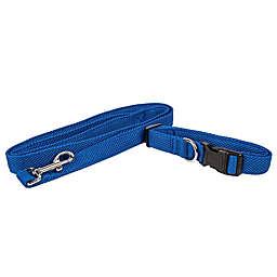 Pet Life® Aero Mesh 2-In-1 Small Dog Leash-Collar in Blue