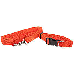 Pet Life® Aero Mesh 2-In-1 Small Dog Leash-Collar in Orange