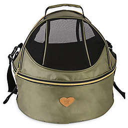 Air-Venture Dual-Zip Airline Approved Round Travel Pet Carrier in Green