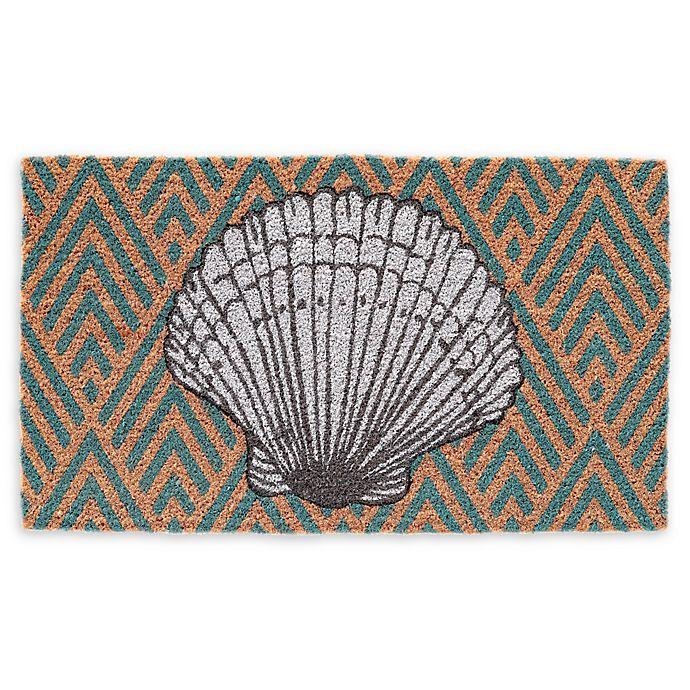 Alternate image 1 for Seashell Coir Door Mat