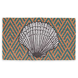 Seashell Coir Door Mat