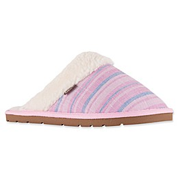 Lamo Aria Scuff Woman's Slipper in Pink Stripe