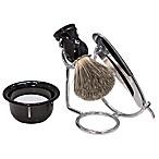 5-Piece Straight Razor Men's Shave Set in Black/Chrome