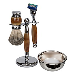 4-Piece Fusion Blade Shave Set in Tiger Eye/Chrome