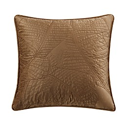 Valeron Caruso Velvet Square Throw Pillow in Gold