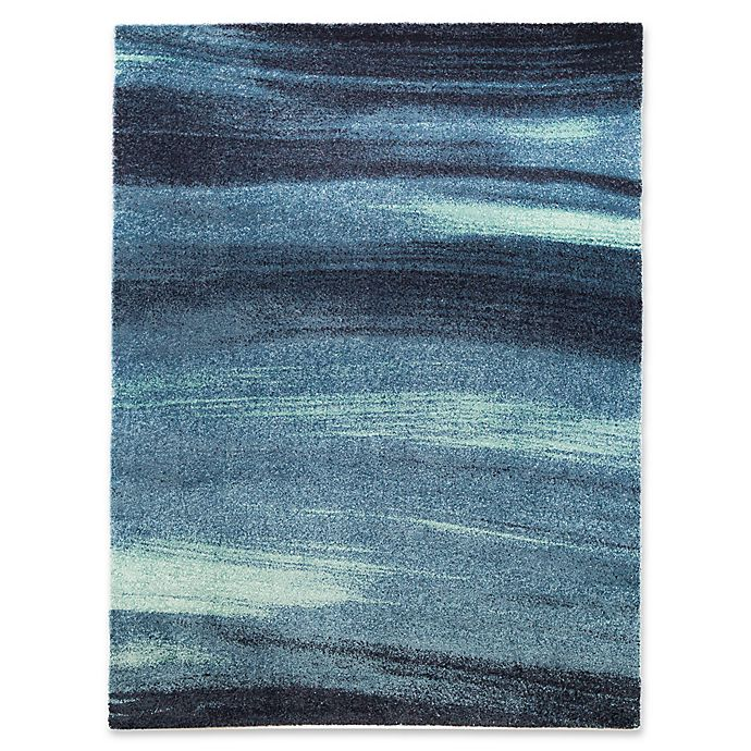 Blue Ocean Loomed Area Rug Bed