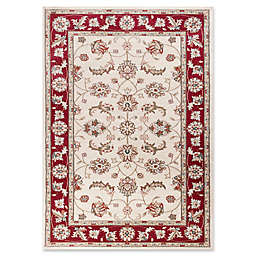 KAS Avalon Mahal 3'3 x 5'3 Area Rug in Ivory/Red