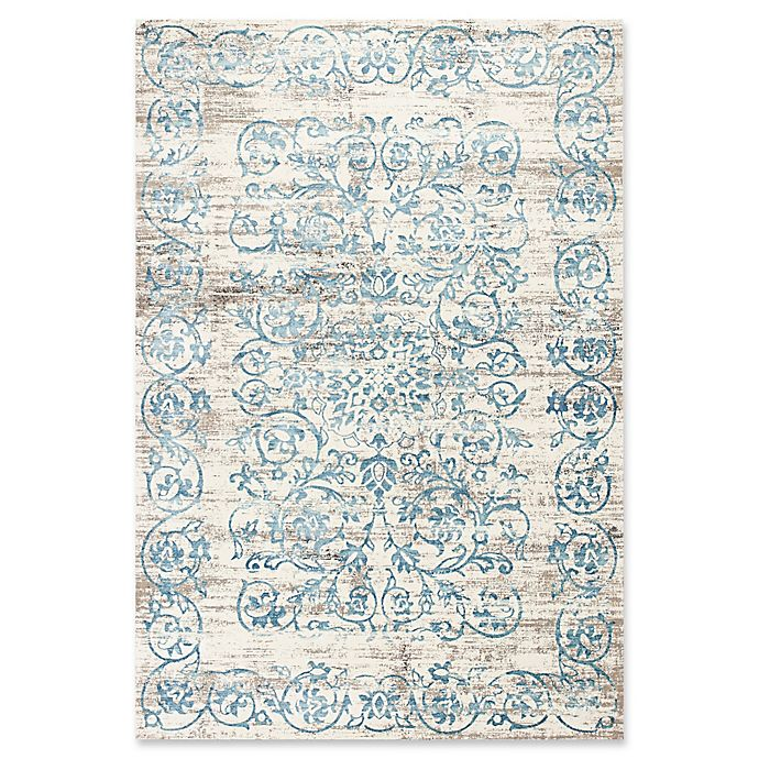 Alternate image 1 for KAS Courtyard Crete 7'10 x 11'2 Area Rug in Ivory/Blue