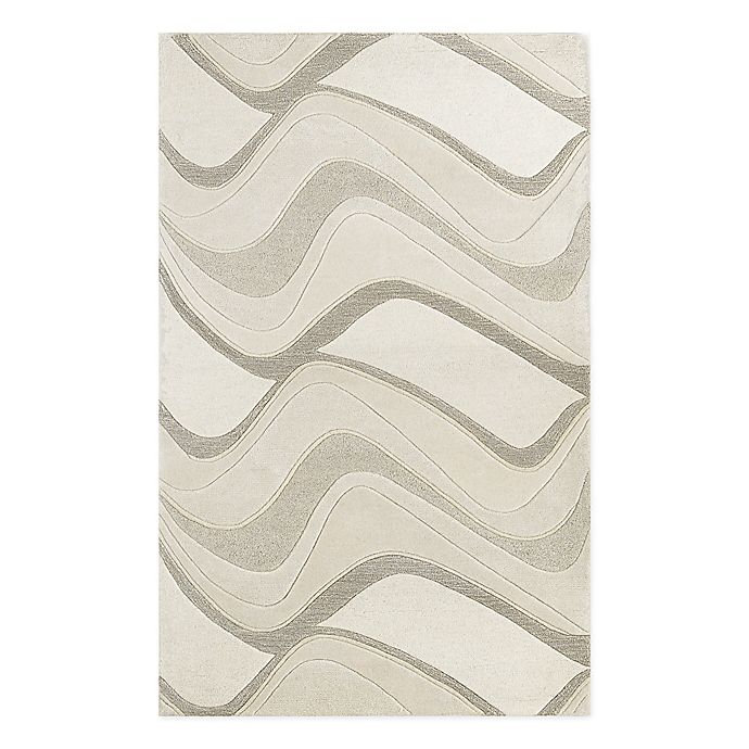 Alternate image 1 for KAS Eternity Waves Handcrafted Rug in Ivory