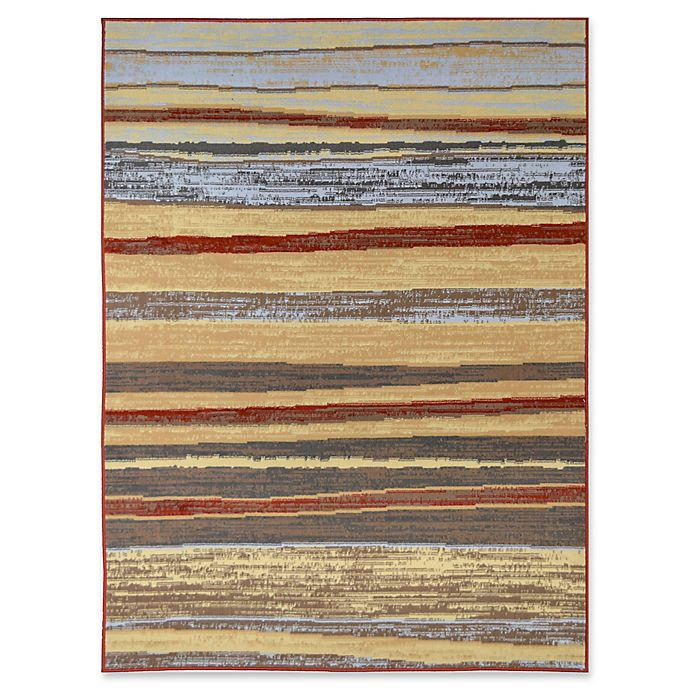 Alternate image 1 for Rugs America Uli 8' X 10' Powerloomed Area Rug in Red