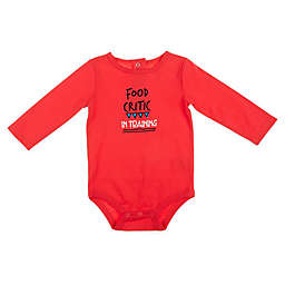 Food Critic Long Sleeve Bodysuit in Red