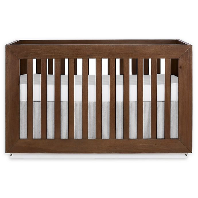 Alternate image 1 for evolur™ Maddox 5-in-1 Convertible Crib in Toffee/Brushed White