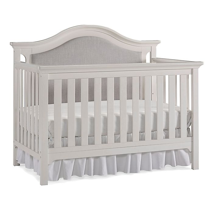 Alternate image 1 for Ti Amo Catania Upholstered 4-in-1 Convertible Crib in Snow White