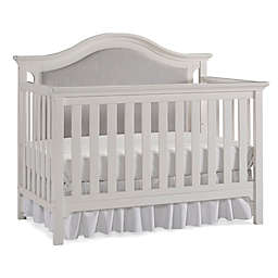 Ti Amo Catania Upholstered 4-in-1 Convertible Crib in Snow White