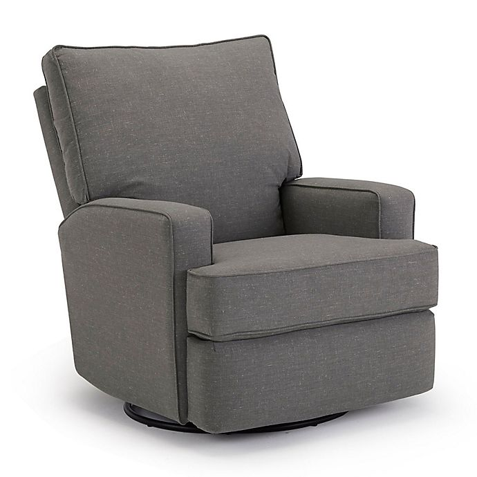 Alternate image 1 for Best Chairs Custom Kersey Swivel Glider Recliner in Charcoal