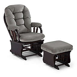 Best Chairs Bedazzle Glider and Ottoman in Dove