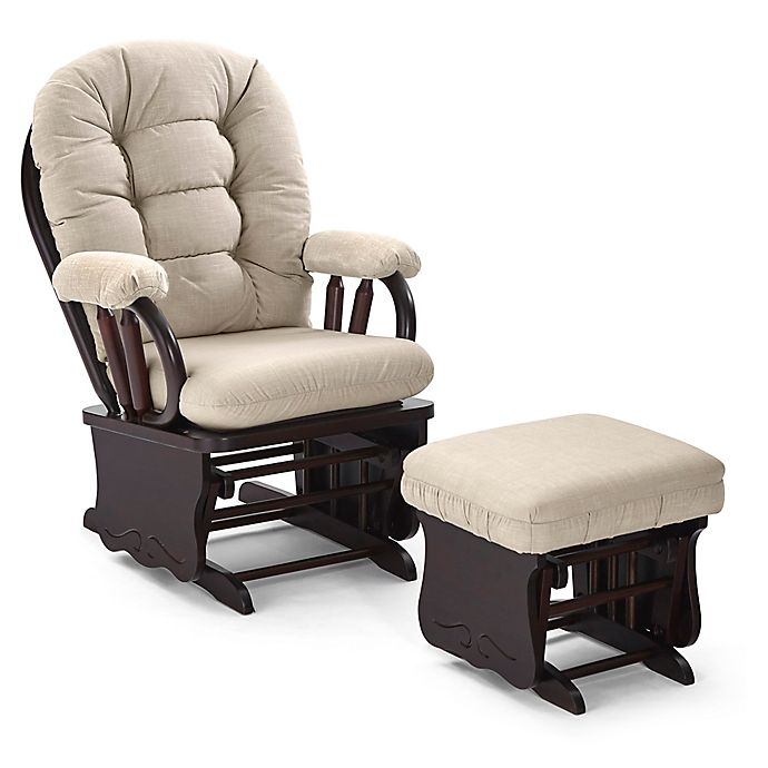 Alternate image 1 for Best Chairs Bedazzle Glider and Ottoman in Linen