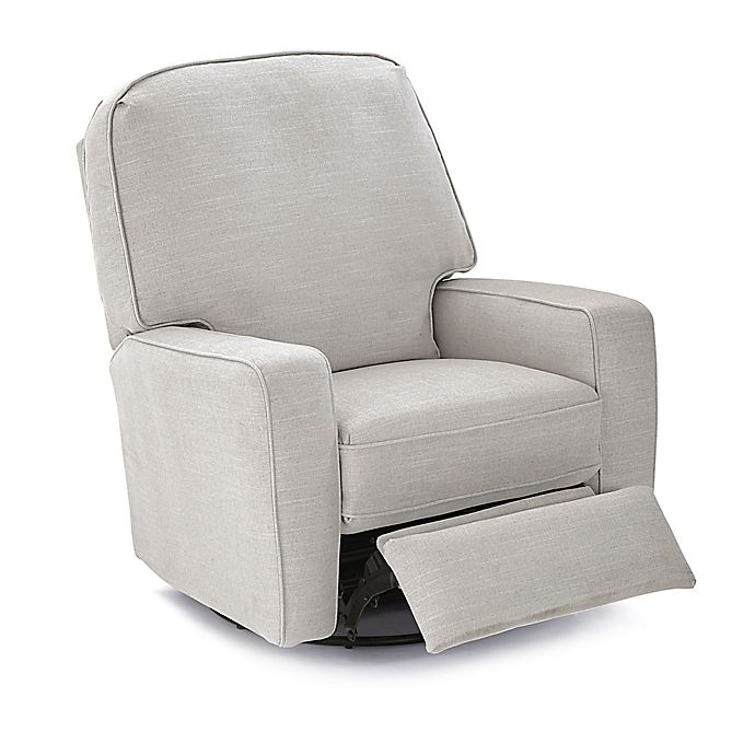 Alternate image 1 for Best Chairs Bilana Swivel Glider Recliner in Dove
