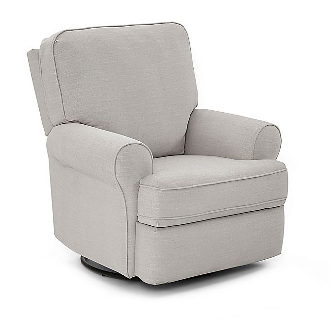 Alternate image 1 for Best Chairs® Tryp Swivel Glider Recliner in Light Grey
