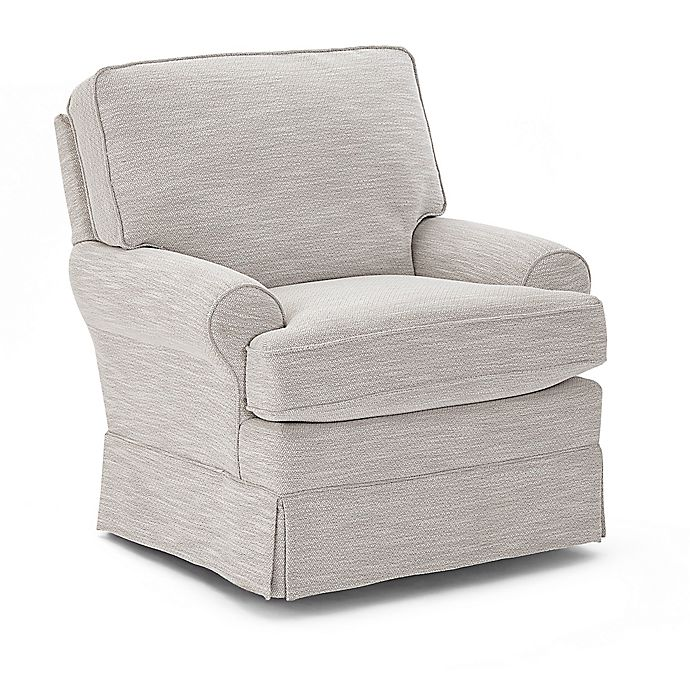 Alternate image 1 for Best Chairs® Quinn Swivel Glider in Birch