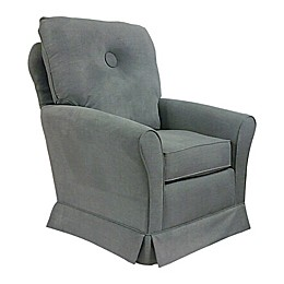 The 1st Chair™ Tate Swivel Glider Chair in Dolphin Grey
