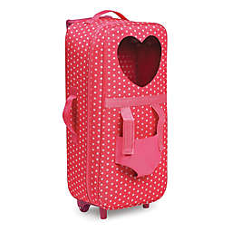 Badger Basket Trolley Doll Carrier with Pet Harness in Pink