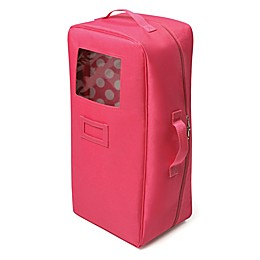 Badger Basket Doll Travel Case with Bed in Pink