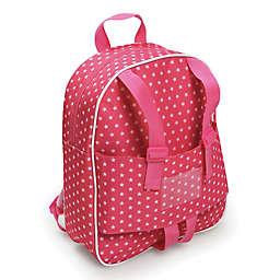 Badger Basket Doll Travel Backpack in Pink Star