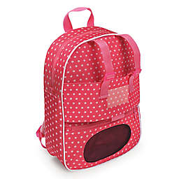 Badger Basket Doll Travel Backpack with Plush Pocket in Pink Star