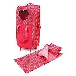 Badger Basket Double Trolley Doll Carrier with Harness, Sleeping Bag, and Pillow in Pink