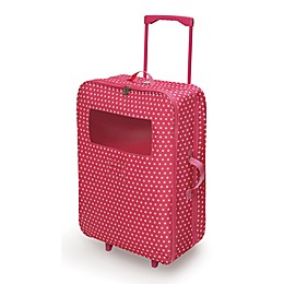 Badger Basket Double Doll Trolley Carrier with Sleeping Bags and Pillows in Pink Star