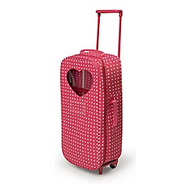 Badger Basket Trolley Doll Carrier with Rocking Bed and Bedding in Pink