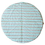 Bambella Designs Chevron Play Mat in Aqua