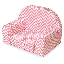 Badger Basket Doll Sofa/Foldout Bed in Pink Chevron
