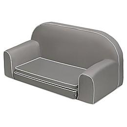 Badger Basket Upholstered Doll Sofa/Foldout Bed with Pocket in Grey