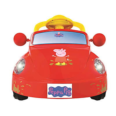 Rollplay 6V Peppa Pig Family Car Ride-On in Red