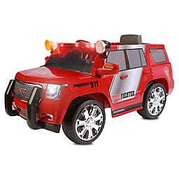 Rollplay 6V GMC Yukon Denali Fire Rescue Ride-On in Red