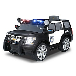 Rollplay 6V Chevy Tahoe Police SUV Ride-On in Black